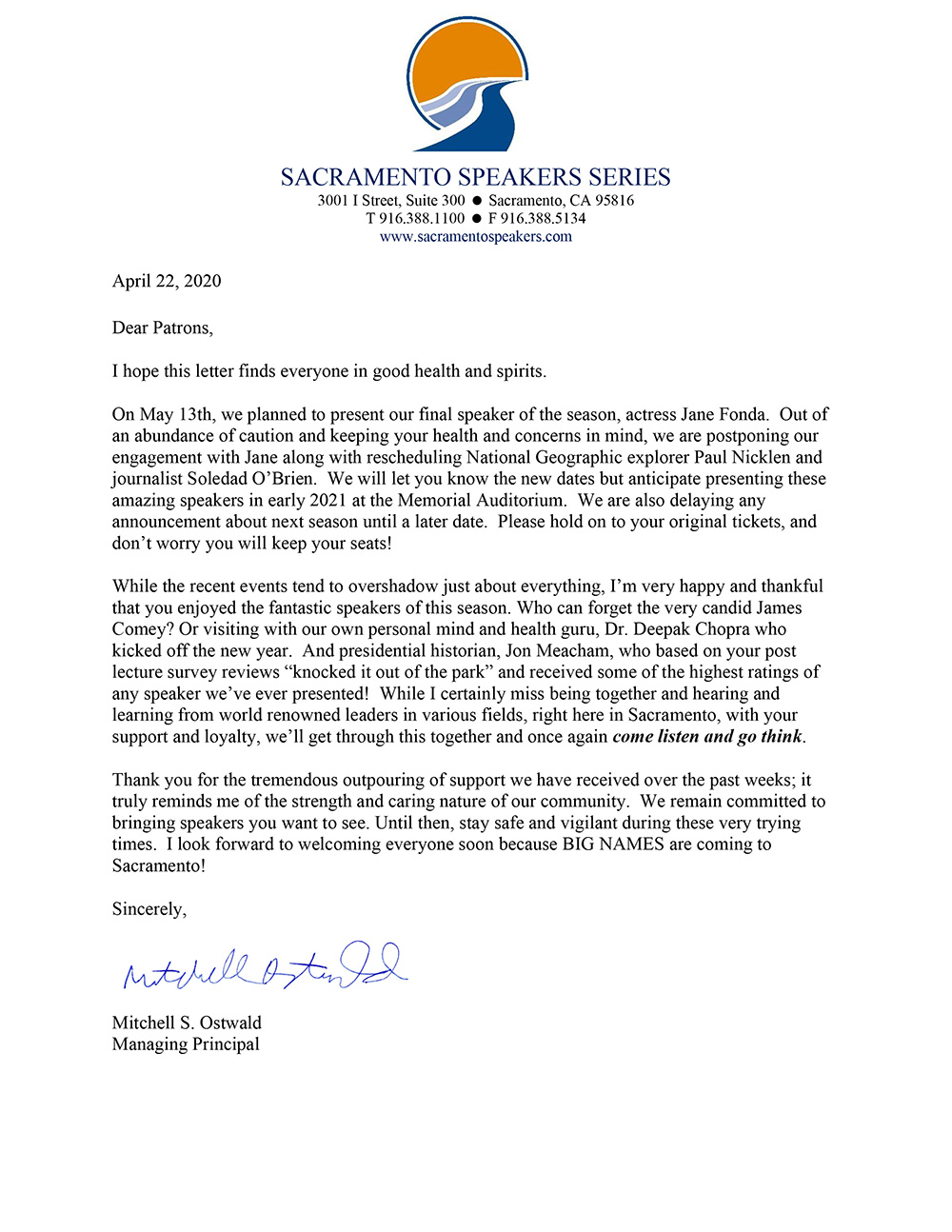 Thank You Letter For Speaker from www.sacramentospeakers.com